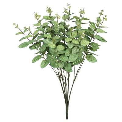 "Artificial Eucalyptus Bush (19"") Frosted Green - Vickerman - Target"