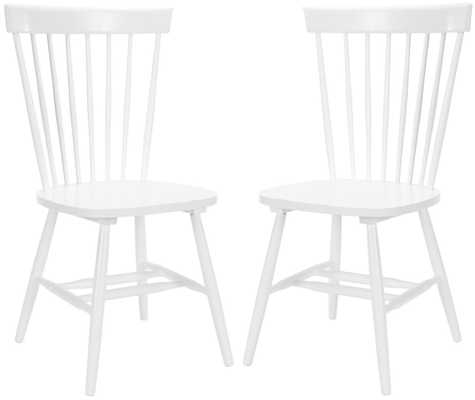 "PARKER 17""H SPINDLE DINING CHAIR (SET OF 2), WHITE - Arlo Home"