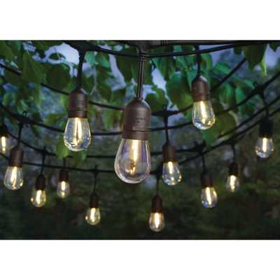 24-Light Indoor/Outdoor 48 ft. String Light with S14 Single Filament LED Bulbs - Home Depot