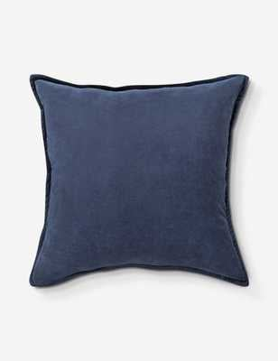 "Maxen Velvet Pillow Navy 18"" x 18"" Down Filled - Lulu and Georgia"