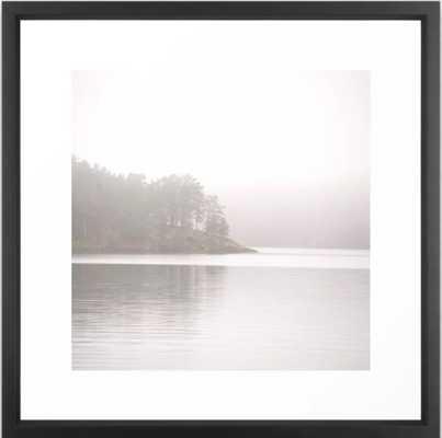 "Foggy Landscape Framed Art Print, Vector Black, 22"" X 22"" - Society6"