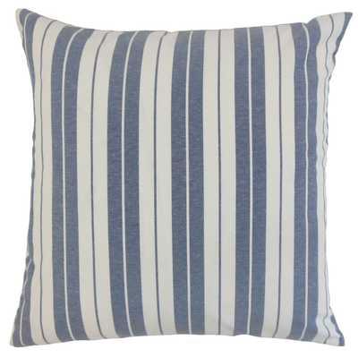 """Henley Stripe Pillow, Navy, 18"""" x 18"""" - Havenly Essentials"""