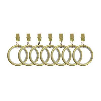 Umbra® Cappa Clip Rings in New Brass - Bed Bath & Beyond