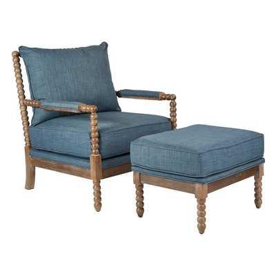 Joyner Armchair and Ottoman - Wayfair