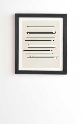 STICKS AND STONES BLACK FRAMED WALL ART - Wander Print Co.