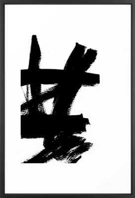 Abstract black & white 2 Framed Art Print - Society6