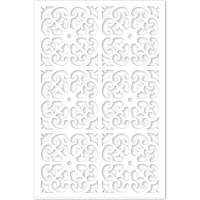1/4 in. x 32 in. x 4 ft. White Vinyl Roman Decor Panel - Home Depot