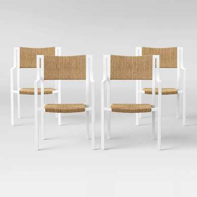 Patio Dining Chair - White - Threshold™ Set of 4 - Target
