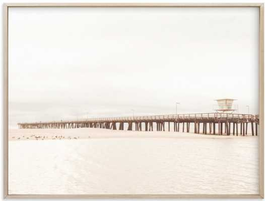 stormy pier - Minted