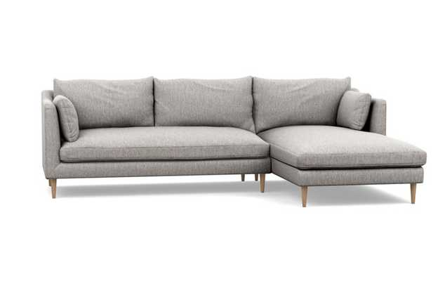 """CAITLIN BY THE EVERYGIRL Sectional Sofa with Right Chaise - Earth/Oak Tapered/110""""x75"""" (long chaise) - Interior Define"""