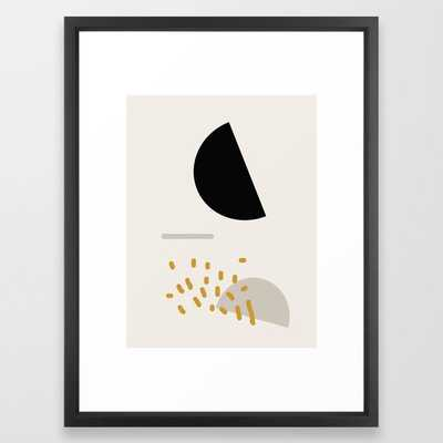Modern Minimal Abstract Framed Art Print - Society6