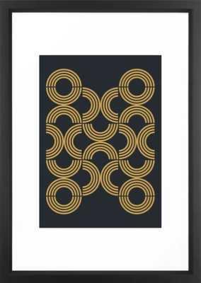 Deco Geometric 01 Framed Art Print - Society6