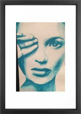 Kate Framed Art Print - Vector Black - 15 x 21 - Society6