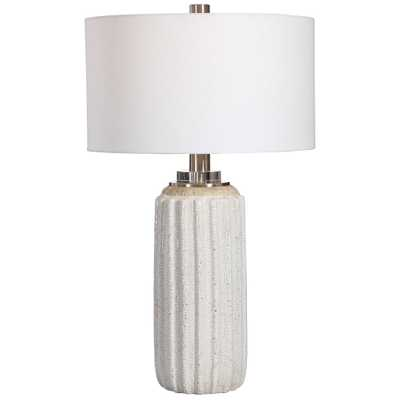 Azariah White Crackle Table Lamp - Hudsonhill Foundry