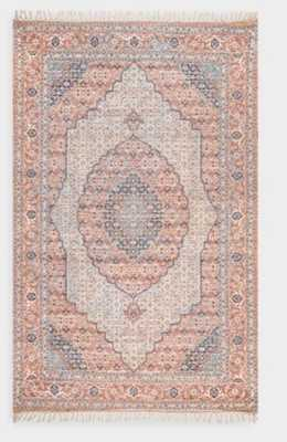 Coral And Blue Clarena Area Rug - World Market/Cost Plus