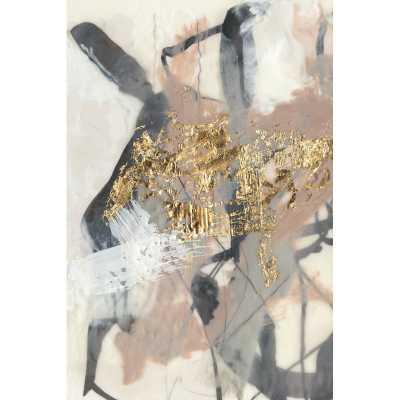 'Golden Blush I' Acrylic Painting Print on Wrapped Canvas - Wayfair