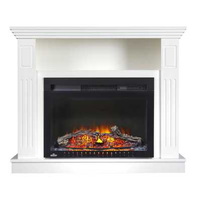 Yow 31 in. Freestanding Electric Fireplace TV Stand with Entertainment Center in White - Home Depot
