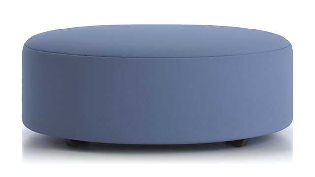 """Syd 44"""" Round Cocktail Ottoman- Kingston, Lake - Crate and Barrel"""