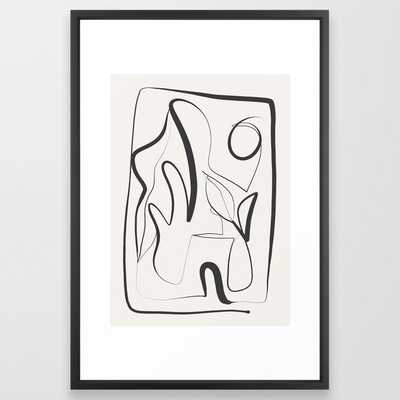 Abstract line art 9 Framed Art Print - Society6