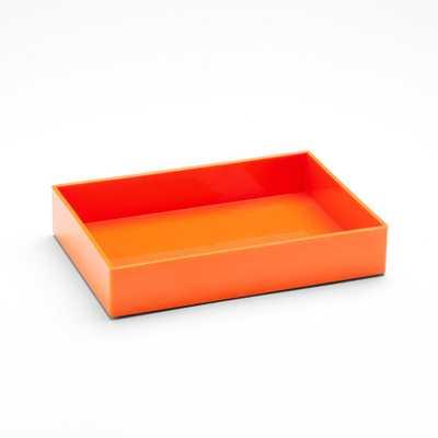 Orange Medium Accessory Tray - Poppin