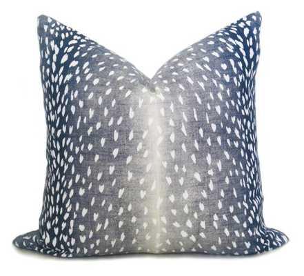 """Antelope Pillow Cover - Navy Denim, 18"""" - Willa Skye"""