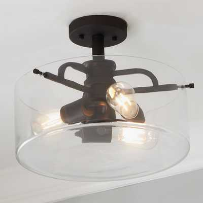 Clearly Modern Semi-Flush Ceiling Light - Shades of Light
