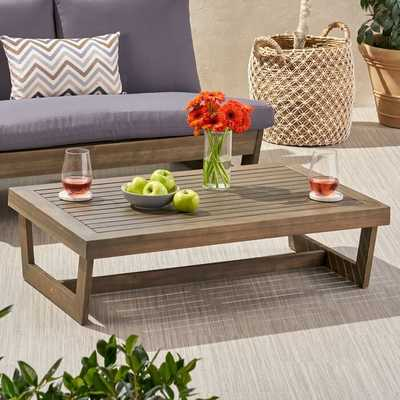 Wooden Coffee Table - Wayfair