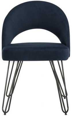 Jora Velvet Retro Dining Chair (Set of 2) - Navy - Arlo Home - Arlo Home