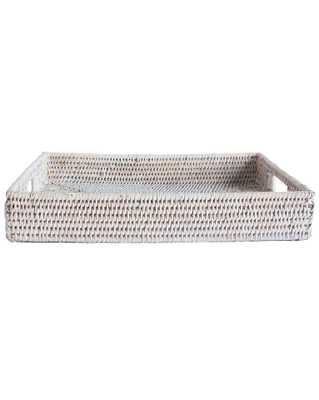 DEEP RATTAN TRAY, LIGHT NATURAL - McGee & Co.