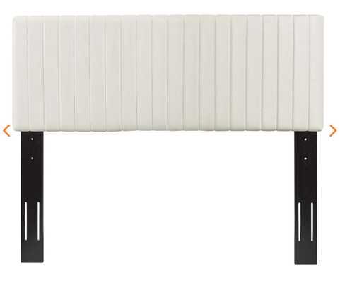 Keira King/California King Performance Velvet Headboard in Ivory - Modway Furniture