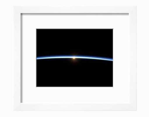 """The Thin Line of Earth's Atmosphere and the Setting Sun 12"""" x 9"""" Soho White Frame - art.com"""
