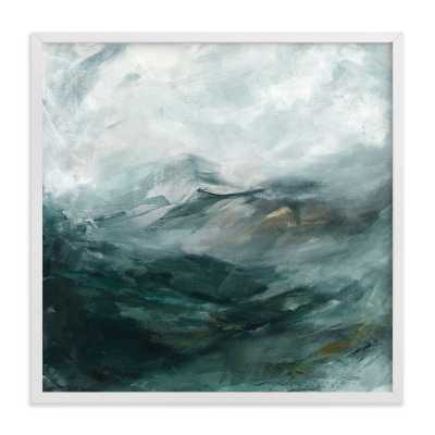 ice canyon  - 16x16- white wood frame - Minted