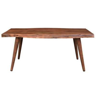 Solid Wood Live Edge Coffee Table - Overstock
