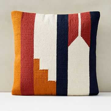 "Woven Alta Pillow Cover, 18""x18"", Ginger - West Elm"