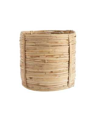 CANE RATTAN ROUND BASKET - SMALL - McGee & Co.