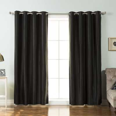 Mcneilly Faux Blackout Thermal Curtain Panels (set of 2) - Wayfair