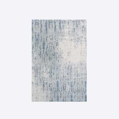 Distressed Foliage Rug, Moonstone, 6'x9' - West Elm