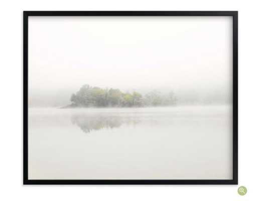The Island - 40 x 30, rich black wood frame - Minted