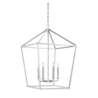 Israel 6-Light Lantern Geometric Pendant / Polished Nickel - Wayfair