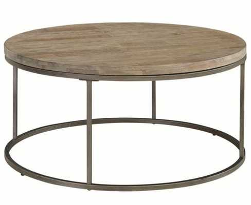 Casana Alana Weathered Acacia 38'' Round Coffee Table - Hayneedle