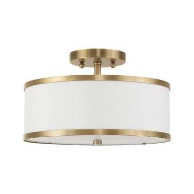 Breithaup 2-Light Semi Flush Mount - Wayfair
