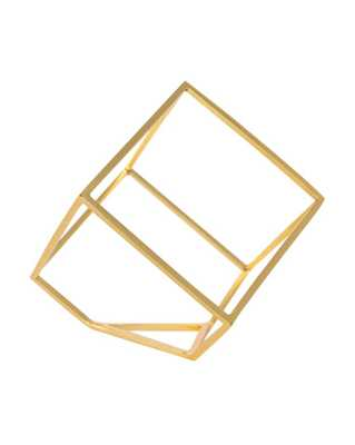OPEN CUBE OBJECT - GOLD - McGee & Co.