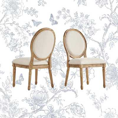 Libretto Round King Louis Back Upholstered Side Chair (Set of 2) - Wayfair