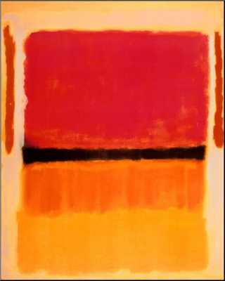 Untitled (Violet, Black, Orange, Yellow on White and Red), 1949 - art.com