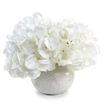 Faux Hydrangea Floral Arrangement in Decorative Vase - Wayfair