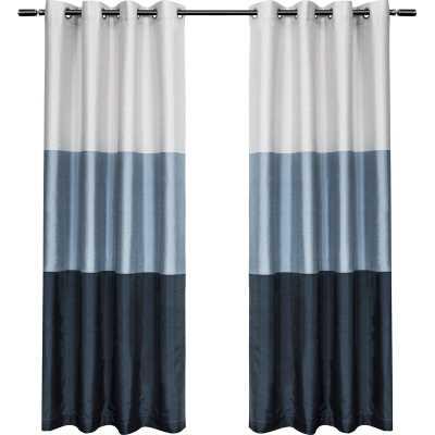 Rodney Striped Semi-Sheer Grommet Curtain Panels - AllModern