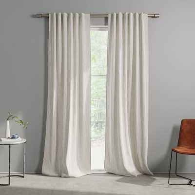 "Cotton Canvas Bomu Curtain, Set of 2, Stone Gray, 48""x96"" - West Elm"