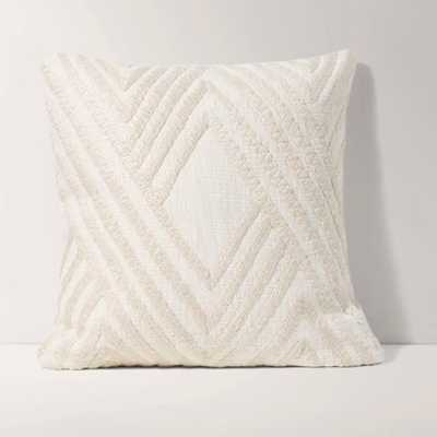 Embroidered Ivory Pillow Cover with Insert - Burrow