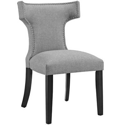 CURVE FABRIC DINING CHAIR IN LIGHT GRAY - Modway Furniture