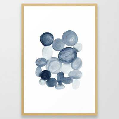 Pebbles Watercolor Abstract Framed Art Print - Society6